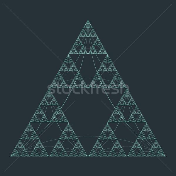 triangle sacral geometry fractal structure background Stock photo © TRIKONA