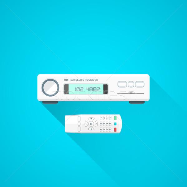colorful satellite receiver device illustration Stock photo © TRIKONA