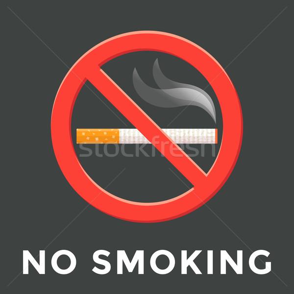 color no smoking label illustration Stock photo © TRIKONA