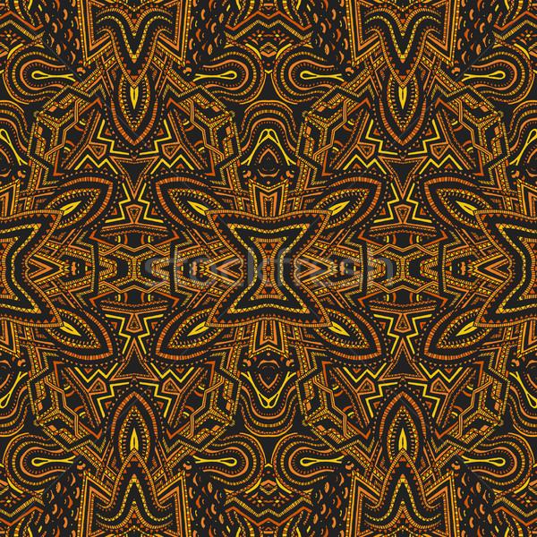 Psicodélico padrão vetor amarelo Foto stock © TRIKONA