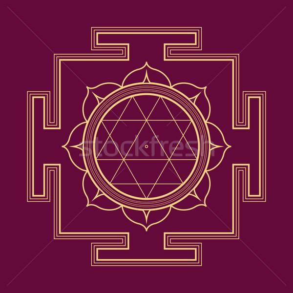 Ilustração vetor ouro hinduismo diagrama Foto stock © TRIKONA
