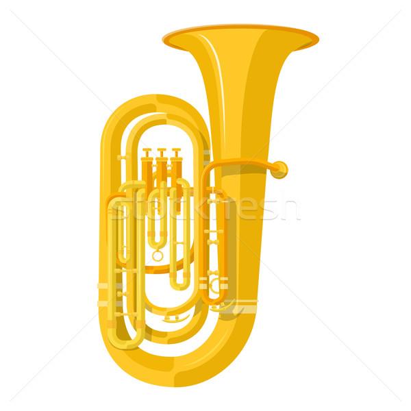 colored flat style tuba music instrument vector illustration Stock photo © TRIKONA