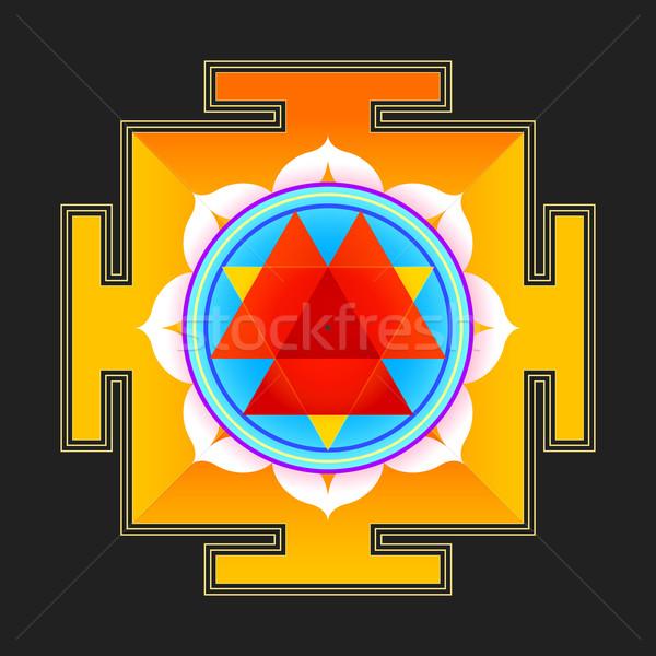 Gekleurd illustratie vector hindoeïsme diagram geïsoleerd Stockfoto © TRIKONA