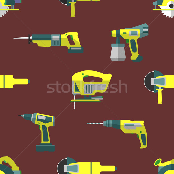 vector remodel tools seamless pattern