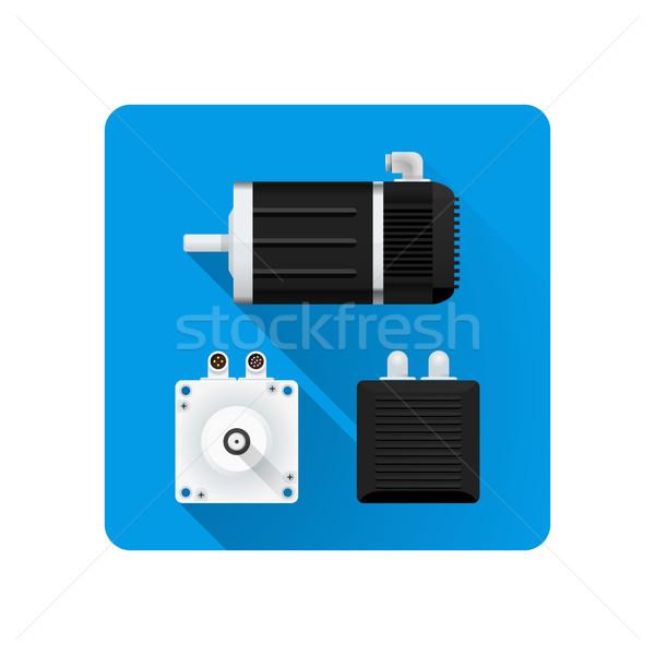 ベクトル 電気 モータ 実例 デザイン ストックフォト © TRIKONA