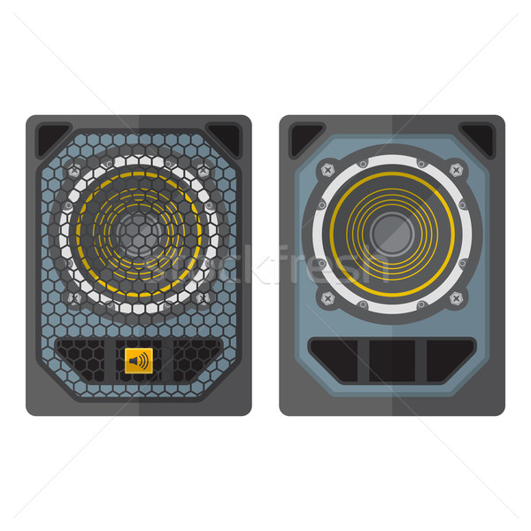 professional concert tour array subwoofer speakers colored flat  Stock photo © TRIKONA