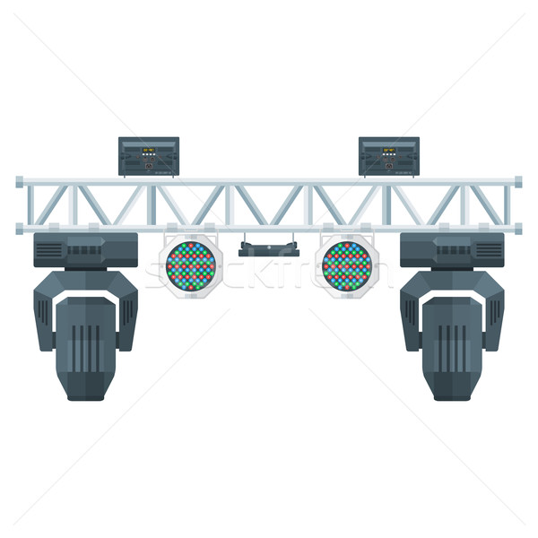 flat style stage metal truss concert lighting equipment