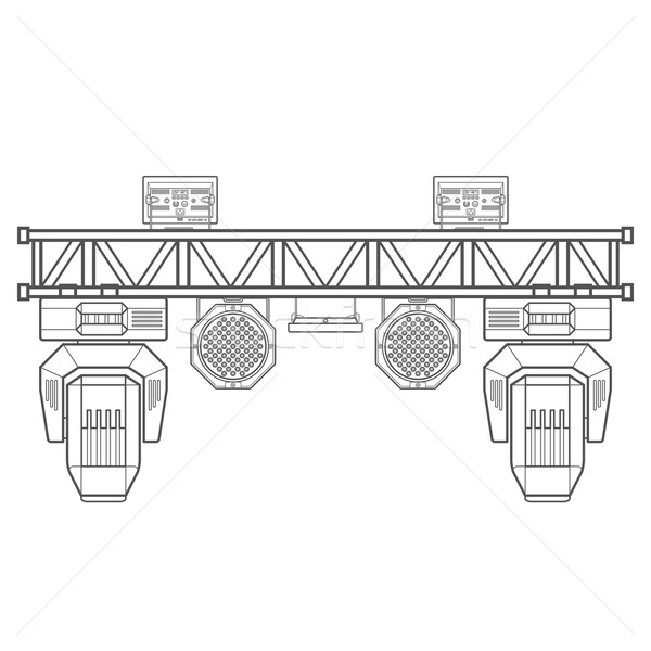 outline stage metal truss concert lighting equipment