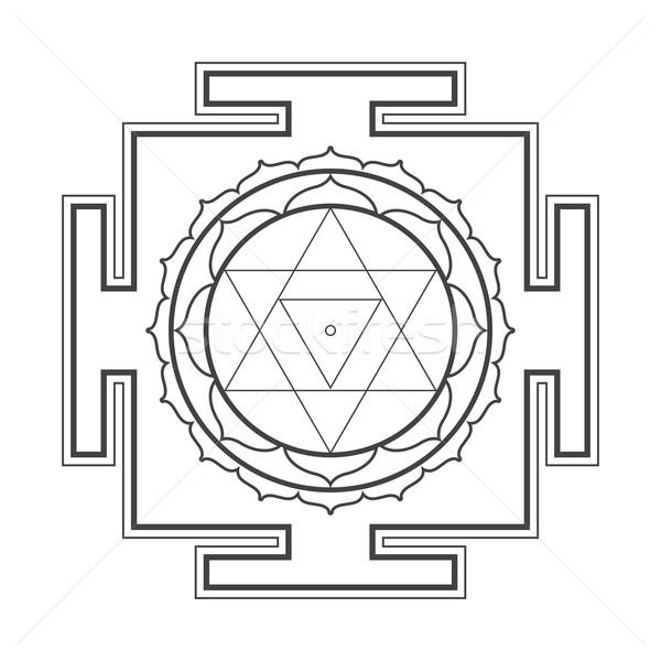 Ilustracja wektora czarny hinduizm Zdjęcia stock © TRIKONA