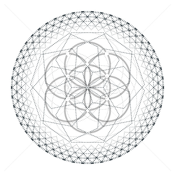Vecteur mandala sacré géométrie illustration contour Photo stock © TRIKONA
