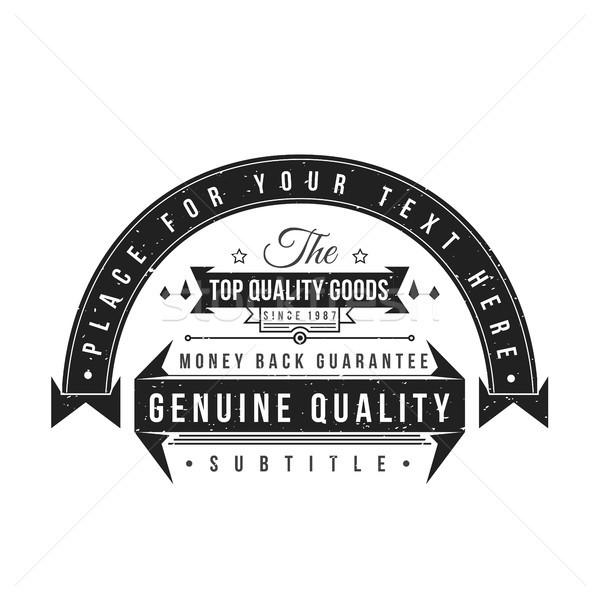 vector monochrome retro badge design Stock photo © TRIKONA