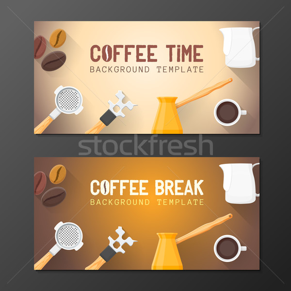 coffee break banner backdrops templates