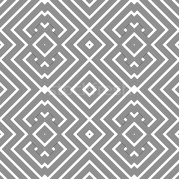 Stock photo: monochrome geometric knotted seamless pattern