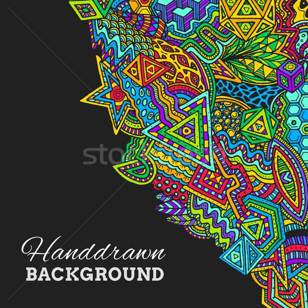 手描き ベクトル 抽象的な いたずら書き 実例 ストックフォト © TRIKONA