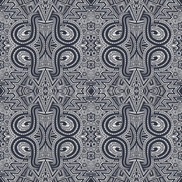 Grijs psychedelic patroon vector zwarte Stockfoto © TRIKONA