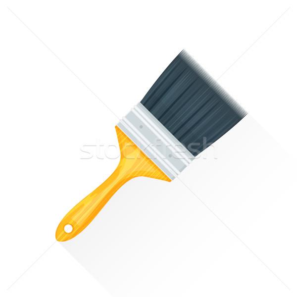 vector flat paint brush illustration icon Stock photo © TRIKONA