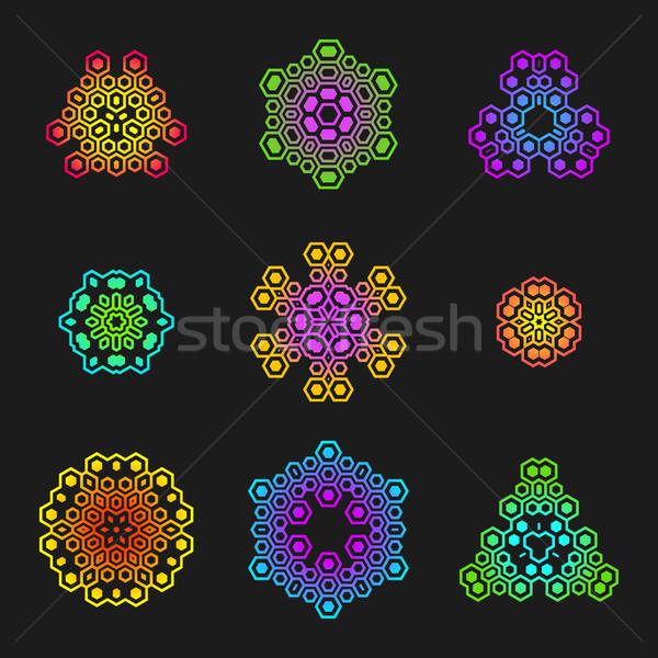 sacred geometric futuristic design elements Stock photo © TRIKONA