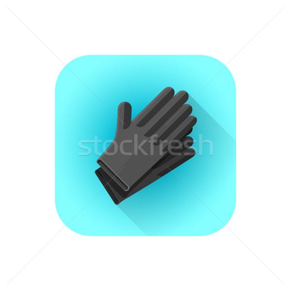 Vecteur noir latex tatouage gants coloré Photo stock © TRIKONA