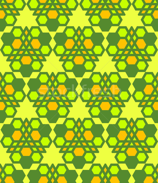 green salad orange abstract geometric seamless pattern Stock photo © TRIKONA