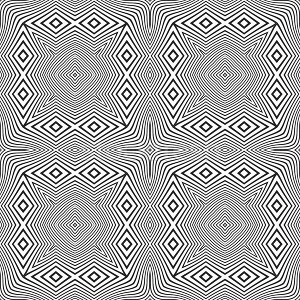 オプティカル 芸術 抽象的な 縞模様の シームレス パターン ストックフォト © TRIKONA