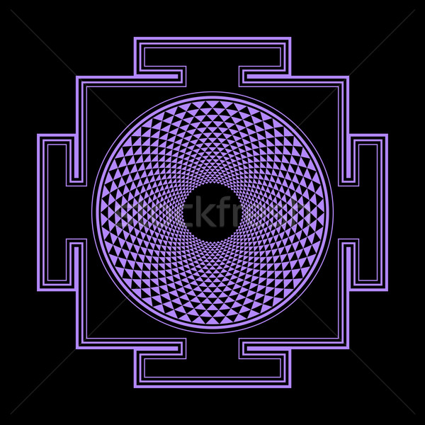 Ilustração vetor violeta hinduismo mil Foto stock © TRIKONA