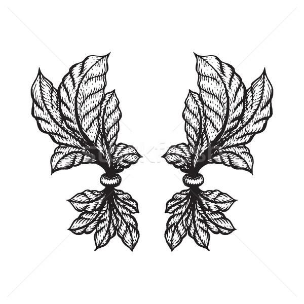 vector engraving tattoo blackwork ornament Stock photo © TRIKONA