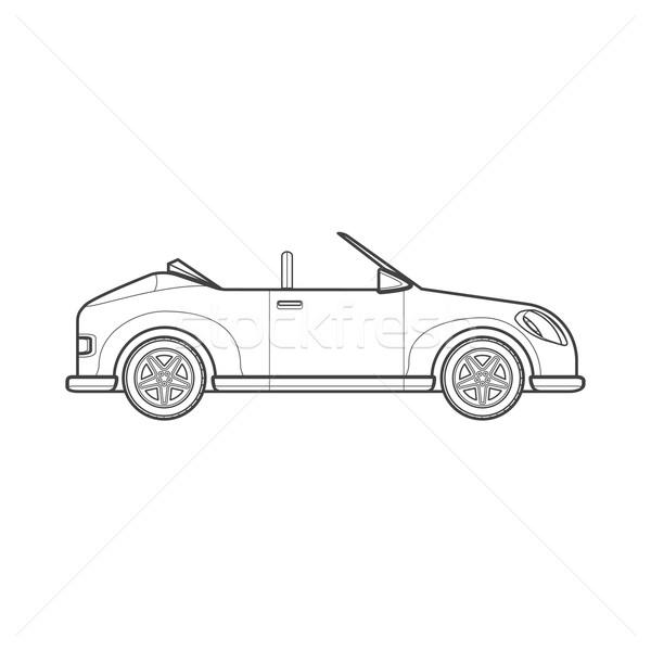 Schets kabriolet roadster auto lichaam stijl Stockfoto © TRIKONA