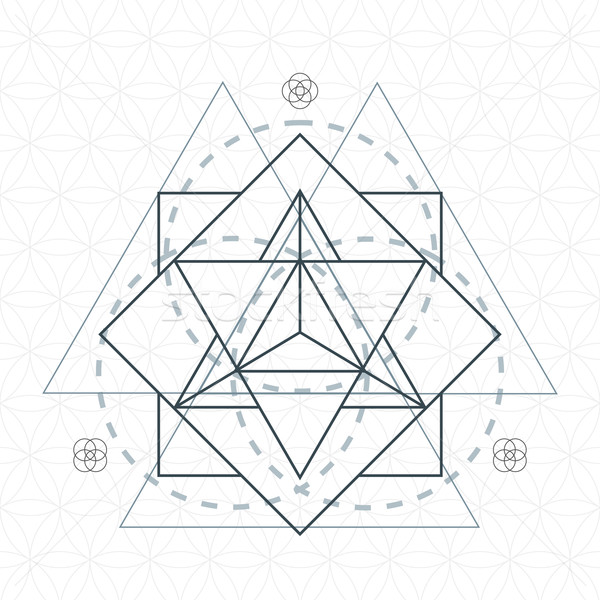 merkaba outline flower of life sacred geometry
