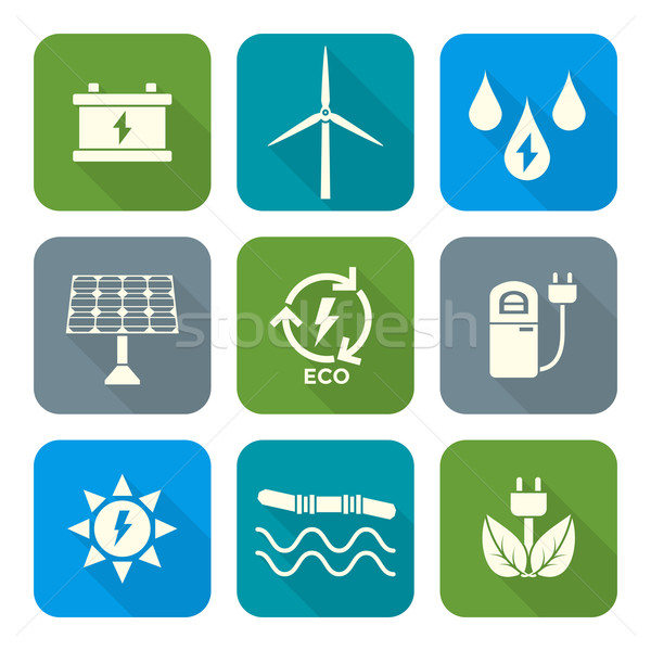 Blanche couleur style recycler écologie énergie Photo stock © TRIKONA