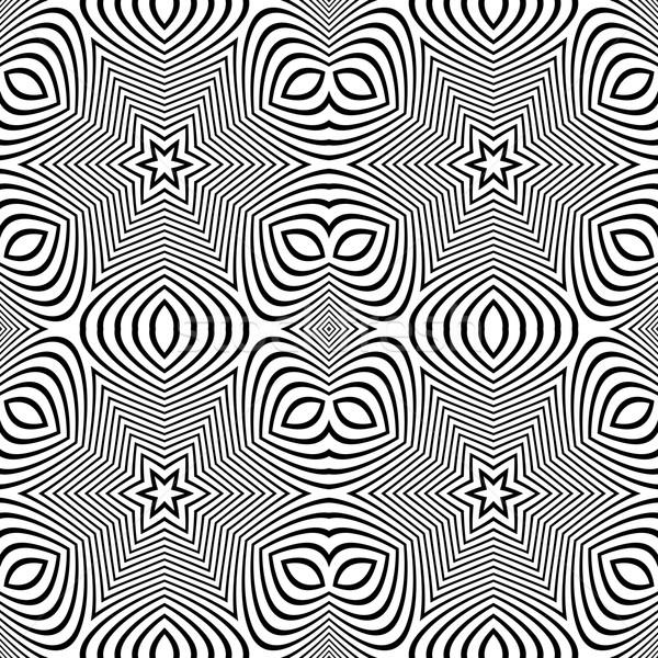 Optische kunst abstract gestreept naadloos patroon Stockfoto © TRIKONA