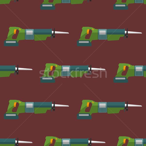 vector reciprocating saw seamless pattern Stock photo © TRIKONA