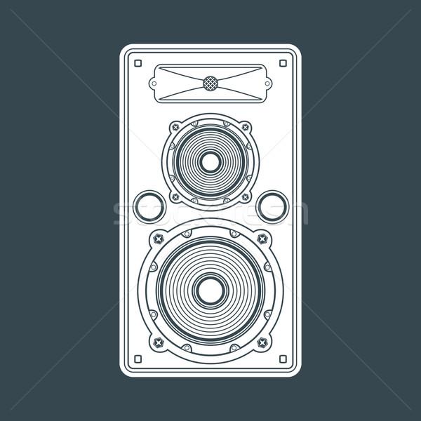 Szilárd szín koncert hangfal illusztráció vektor Stock fotó © TRIKONA