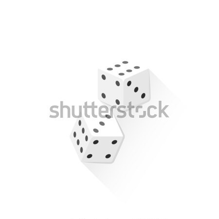 色 骨 サイコロ アイコン 実例 ベクトル ストックフォト © TRIKONA