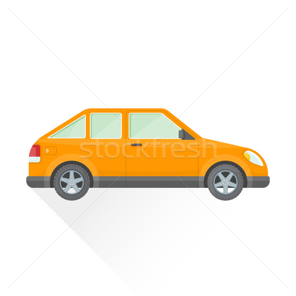 Vettore arancione auto corpo stile illustrazione Foto d'archivio © TRIKONA