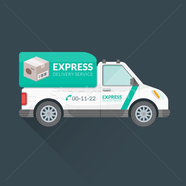 express delivery service cargo vehicle Stock photo © TRIKONA