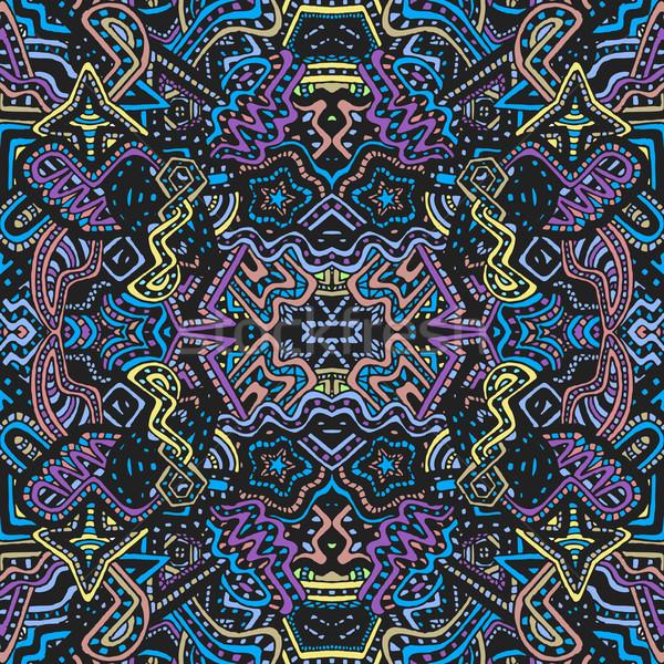 Gekleurd illustratie vector naadloos Stockfoto © TRIKONA