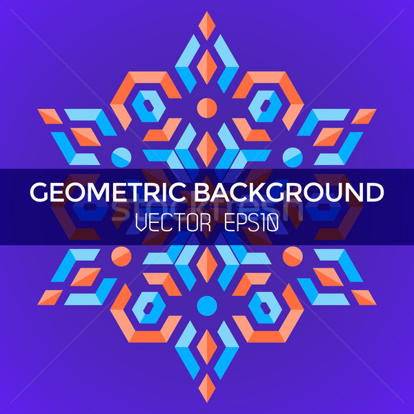 abstract geometric blue orange red jewels star violet background Stock photo © TRIKONA