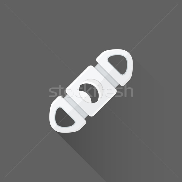 vector flat cigar guillotine cutter illustration icon