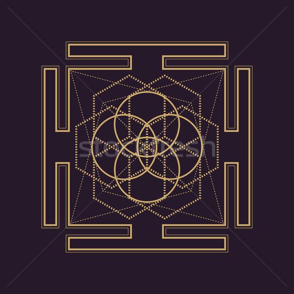 вектора мандала геометрия иллюстрация золото Сток-фото © TRIKONA