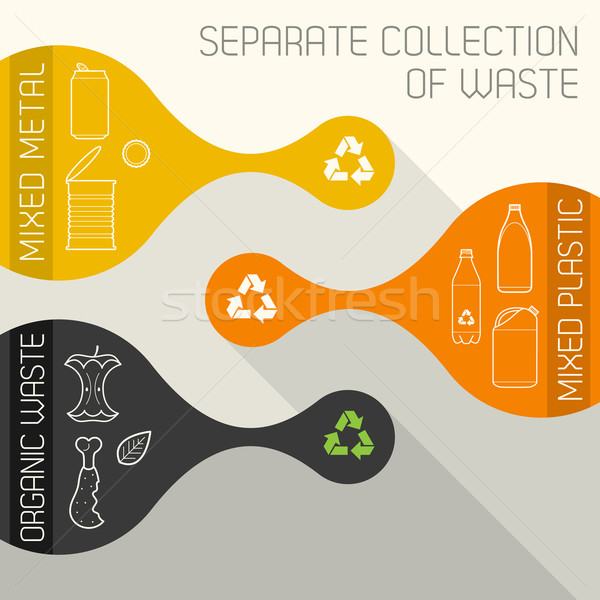 recycling and organic waste banners Stock photo © TRIKONA