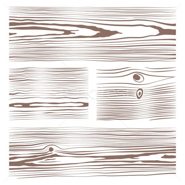 various monochrome wood texture collection illustration Stock photo © TRIKONA