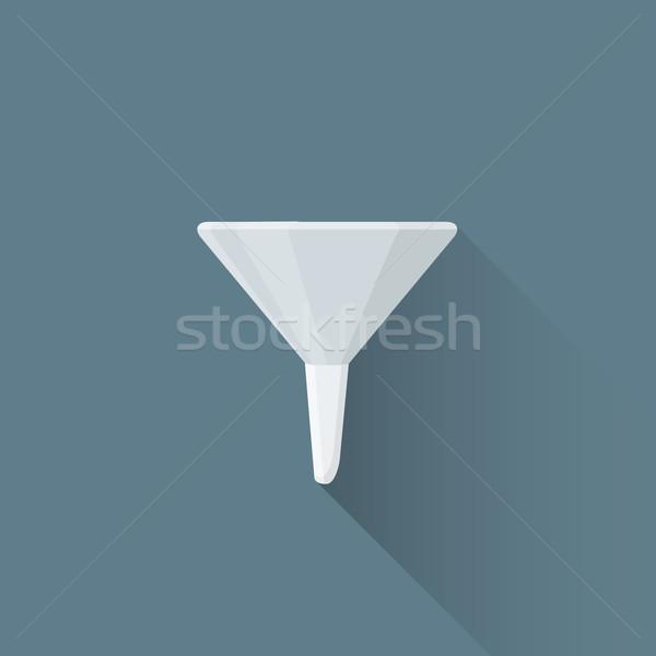 Wektora metal lejek ilustracja ikona kolorowy Zdjęcia stock © TRIKONA