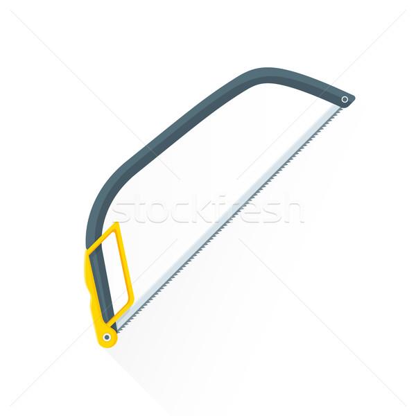 vector flat construction hacksaw illustration icon Stock photo © TRIKONA