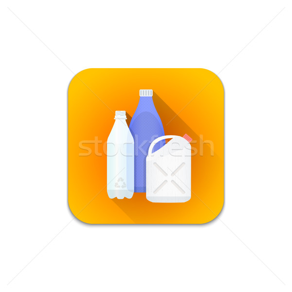 vector plastic recycle waste icon