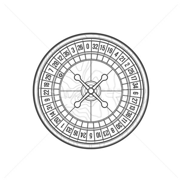 Jugando ruleta icono ilustración vector Foto stock © TRIKONA