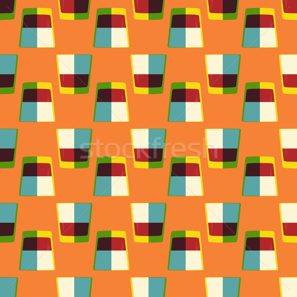 pop art whiskey glass seamless pattern