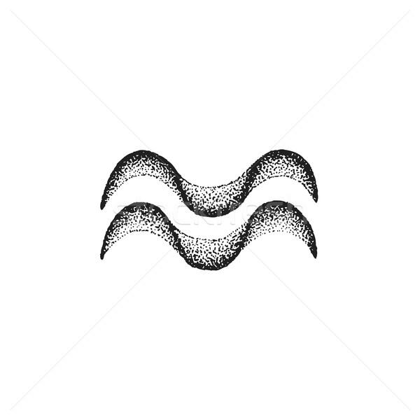 Kézzel rajzolt állatöv felirat vektor fekete tinta Stock fotó © TRIKONA