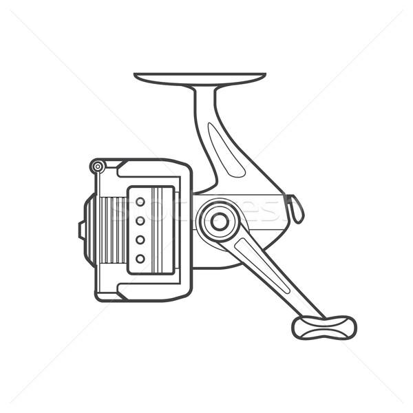 рыбалки иллюстрация вектора монохромный Сток-фото © TRIKONA