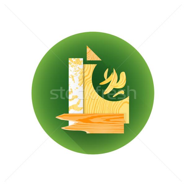 vector wood scrap waste icon Stock photo © TRIKONA