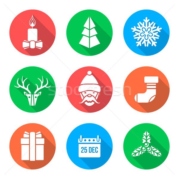 Foto stock: Blanco · diseno · Navidad · vector